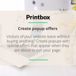 Create popup offers