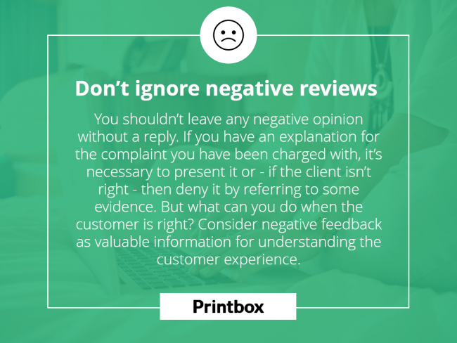 Don't ignore negative reviews