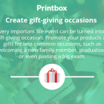 Create gift-giving occasions